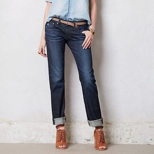 AG Adriano Goldschmied Cuff Tomboy Straight Jeans